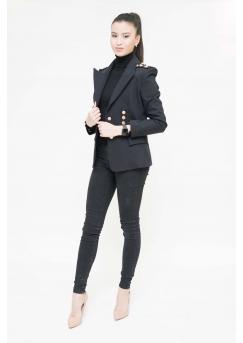 Пиджак премиум-класса черный Aydana Omarova Couture (6221)