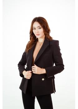 Пиджак премиум-класса черный Aydana Omarova Couture (6206)