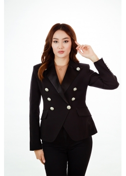 Пиджак премиум-класса черный Aydana Omarova Couture (50041)