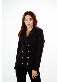Пиджак премиум-класса черный Aydana Omarova Couture (50043)