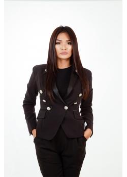 Пиджак премиум-класса черный Aydana Omarova Couture (50037)