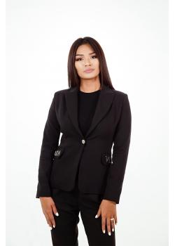 Пиджак премиум-класса черный Aydana Omarova Couture (50040)